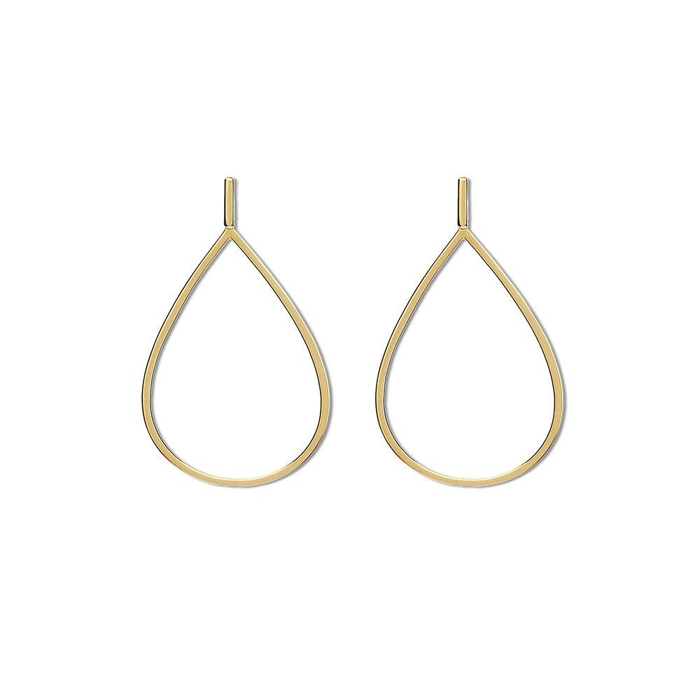 Drop Earring With Earring In Yellow Gold 18K - Size S