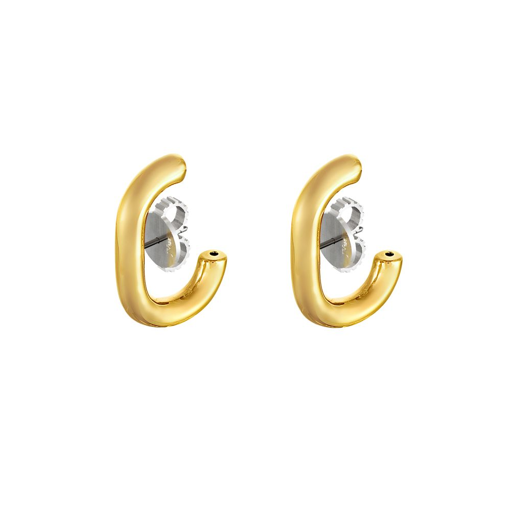 Ear Hook Silver with 18k Yellow Gold