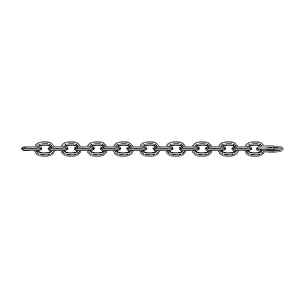 Jv Man Ii Matte Chain Bracelet With Black Rhodium Plated Silver