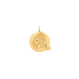 Large Kiss Pendant With 18K Yellow Gold Plated Silver