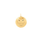 Large Smile Pendant With 18K Yellow Gold Plated Silver