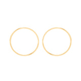 Large Style Hoop With 18K Yellow Gold
