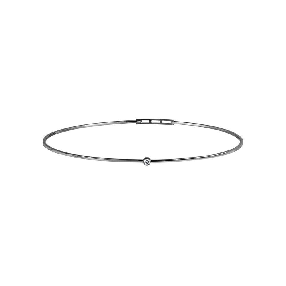 Love Ny Diamond Choker With 18K White Gold With Black Rhodium