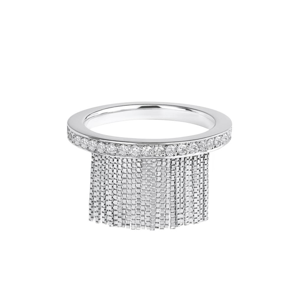 Love Ny Diamond Fringe Ring With 18K White Gold
