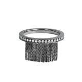 Love Ny Diamond Fringe Ring With 18K White Gold With Black Rhodium