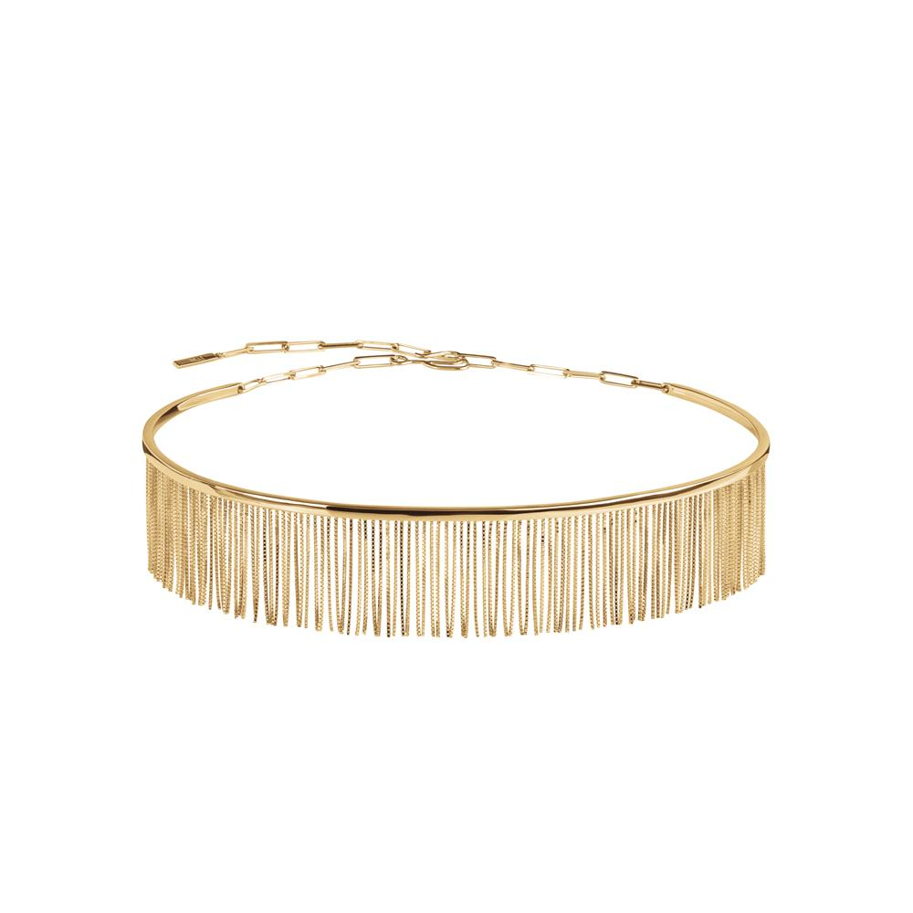 Love Ny Fringe Choker With 18K Yellow Gold