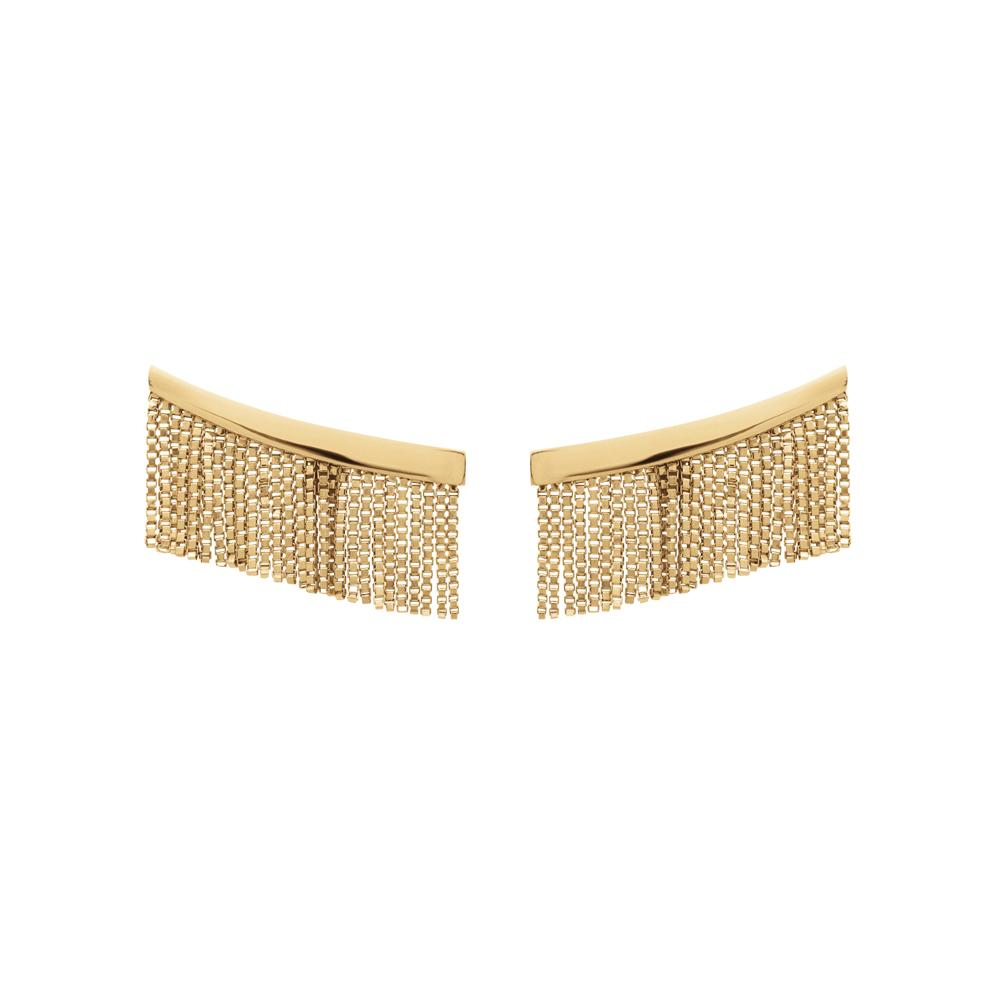 Love Ny Fringe Earrings With 18K Yellow Gold