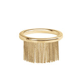 Love Ny Fringe Ring With 18K Yellow Gold