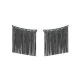 Love Ny Large Diamond Fringe Earrings With 18K White Gold With Black Rhodium