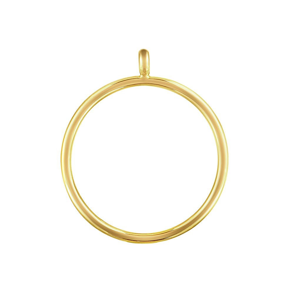 Pop Chain Hoop Pendant Silver with 18k Yellow Gold