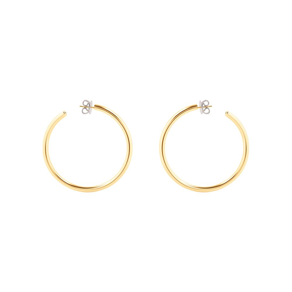 Pop Medium Hoop Earrings With 18K Yellow Gold Plated Silver