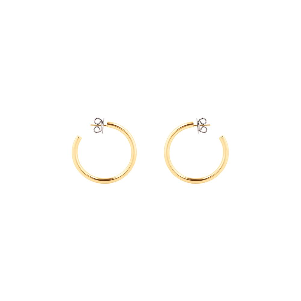 Pop Small Hoop Earrings With 18K Yellow Gold Plated Silver