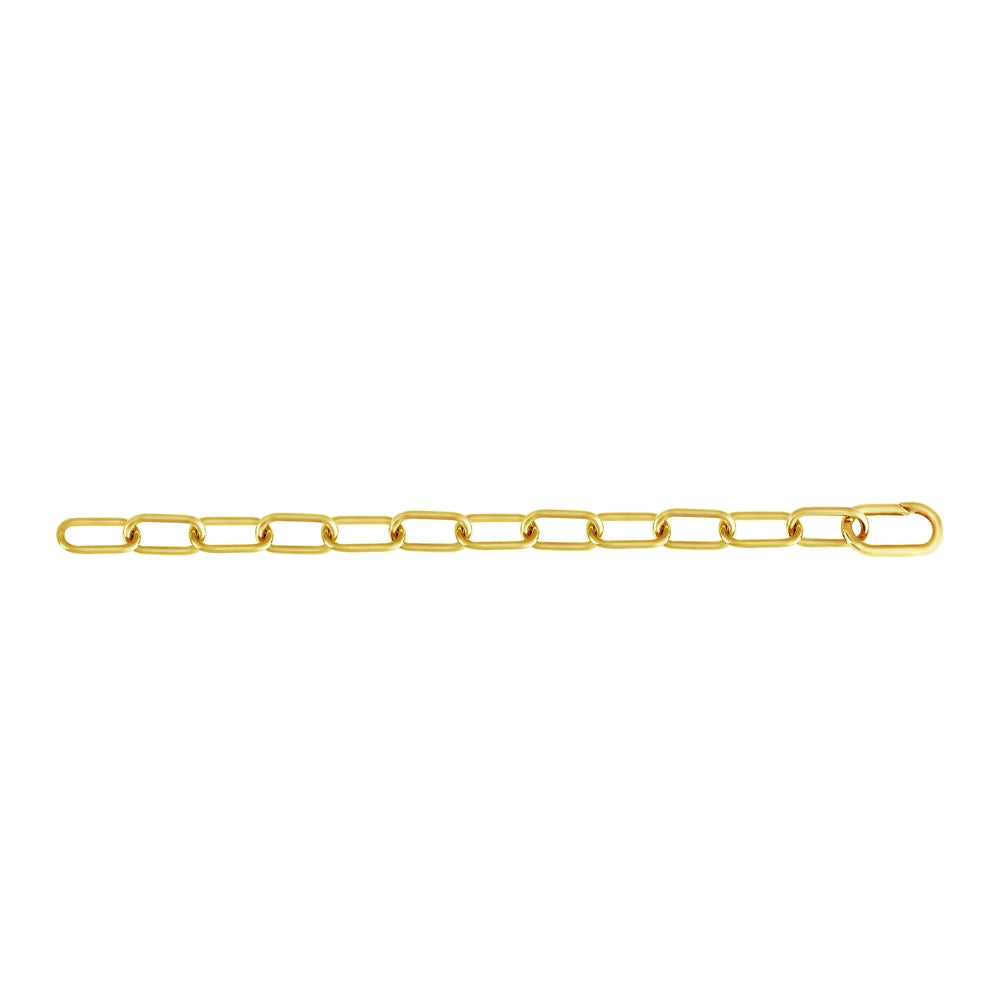 Large Pop Chain Bracelet Silver with 18k Yellow Gold