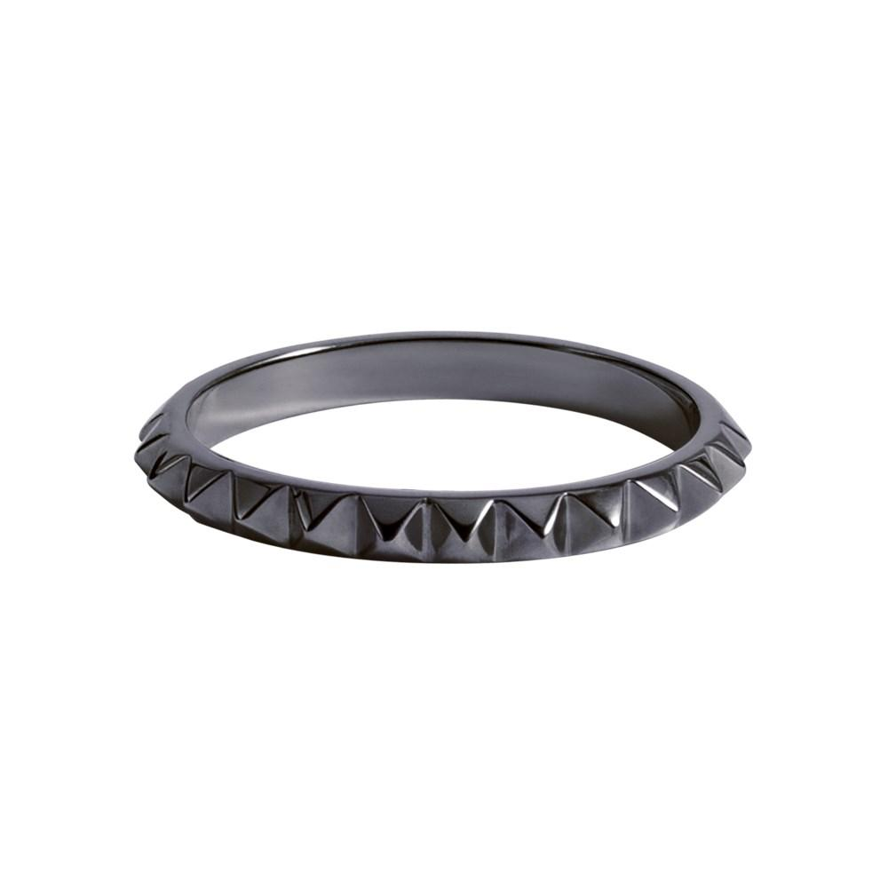 Punk Ring With White Gold 18K With Black Rhodium