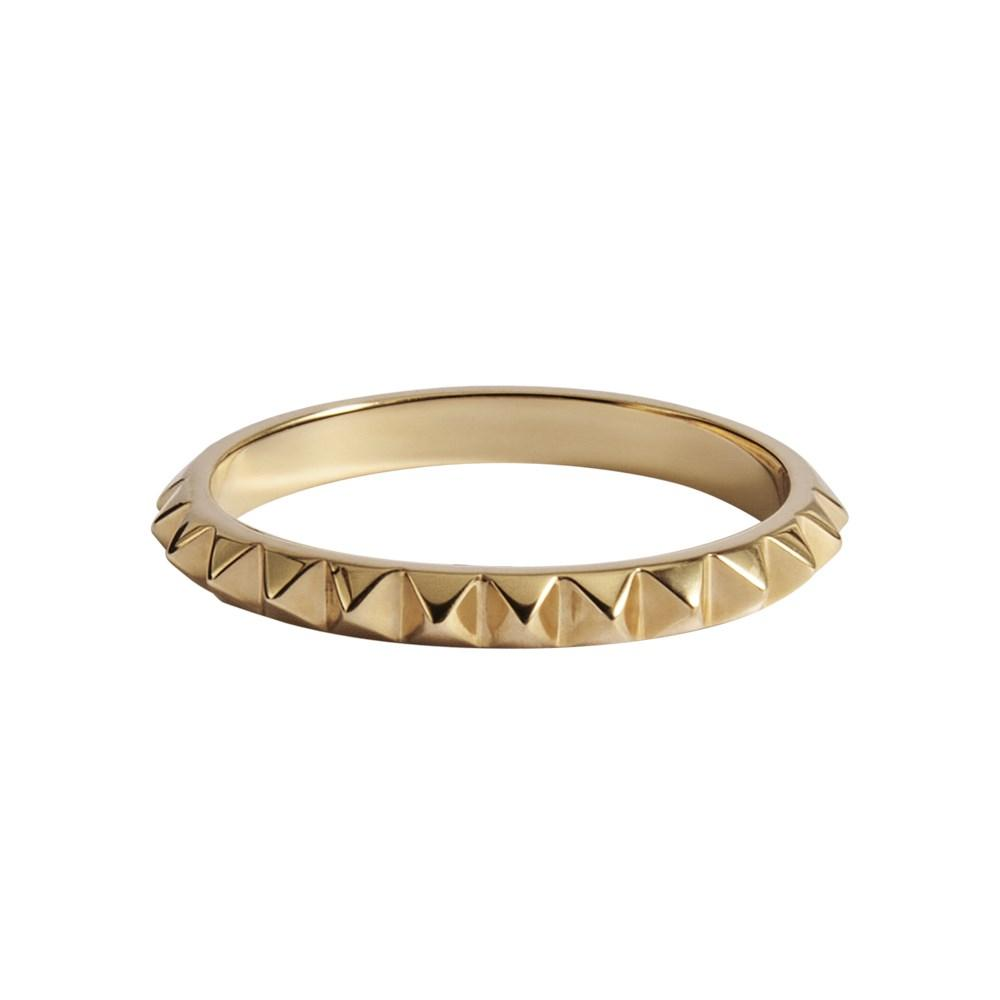 Punk Ring With Yellow Gold 18K