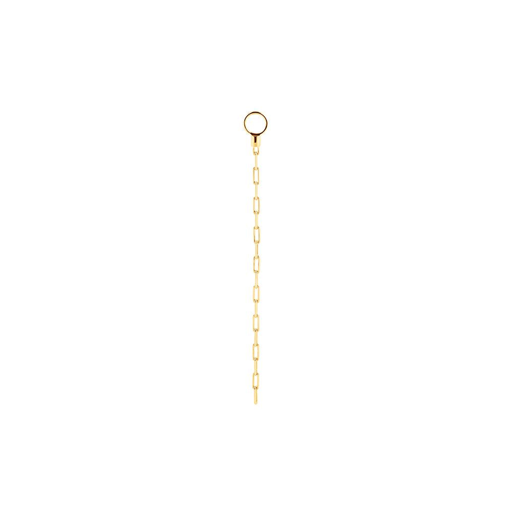 Short Chain Pendant With 18K Yellow Gold Plated Silver