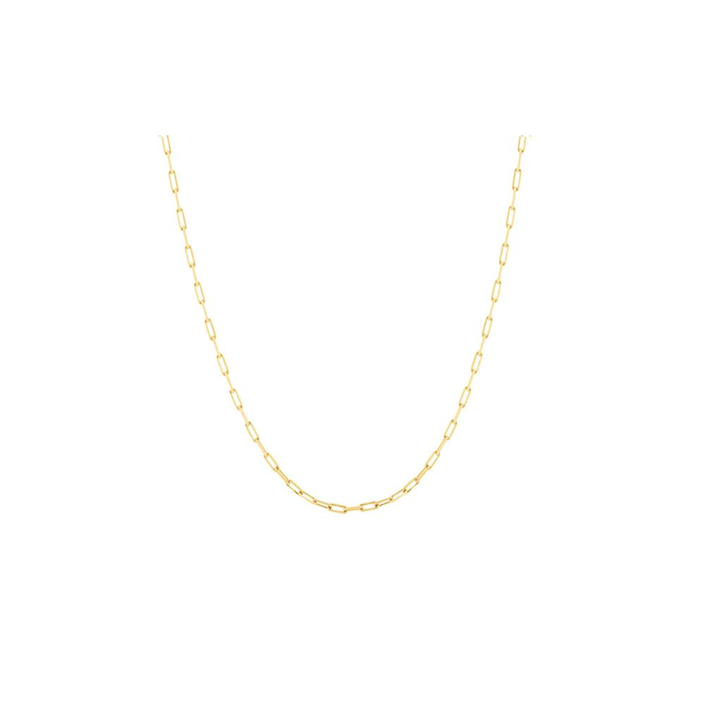 Short Pop Chain Necklace Kids With 18K Yellow Gold Plated Silver