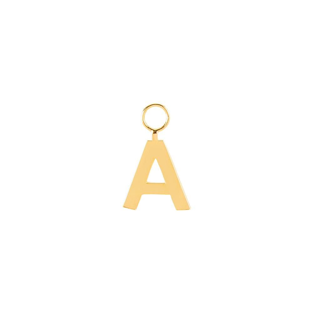 Small Letter Pendant With 18K Yellow Gold Plated Silver