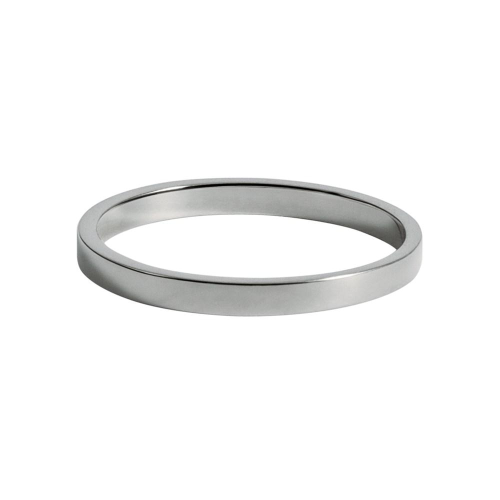 Smooth Ring With White Gold 18K