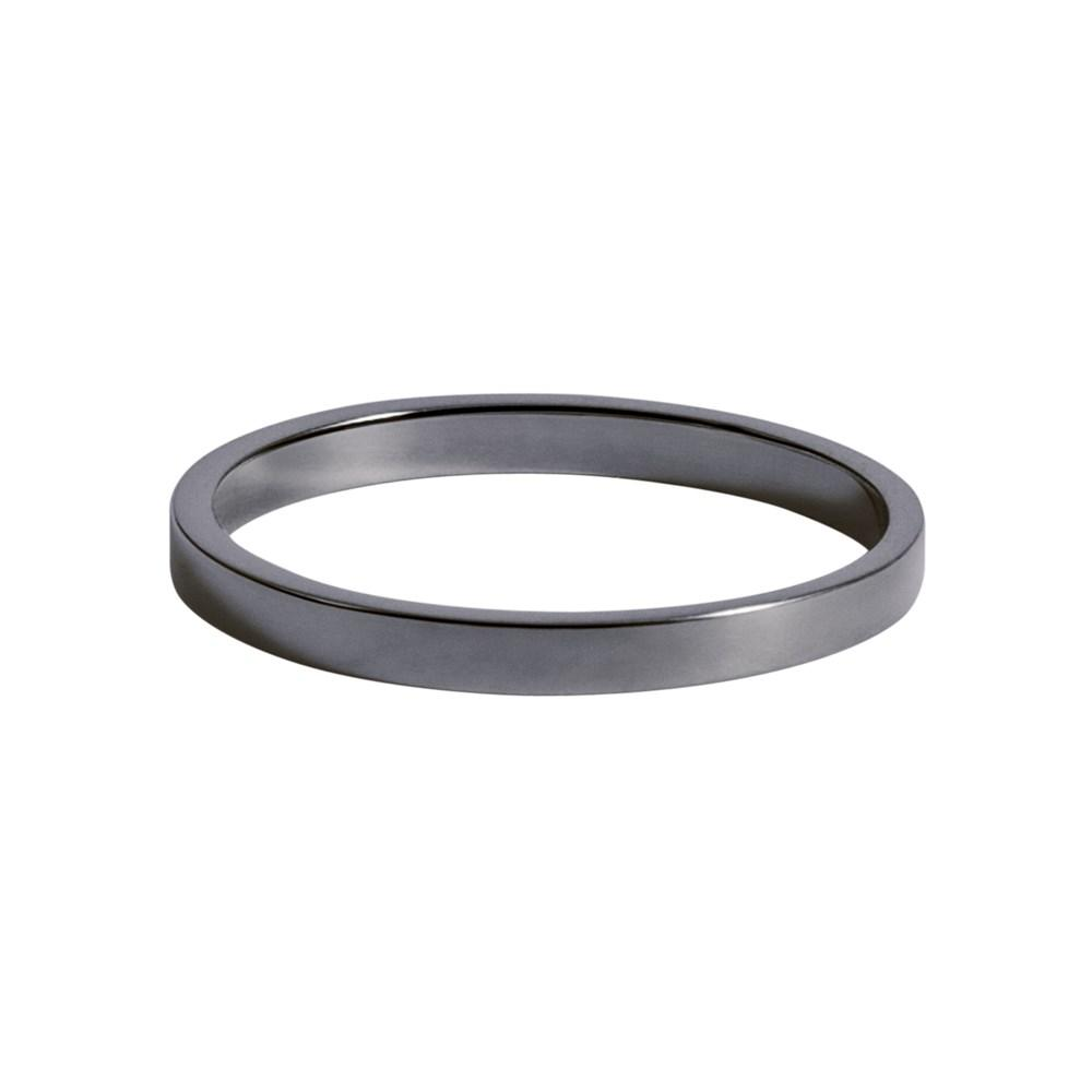 Smooth Ring With White Gold 18K With Black Rhodium