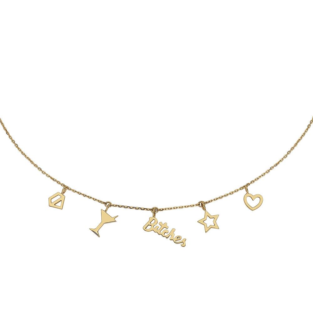 Symbols Necklace Piscine With 18K Yellow Gold