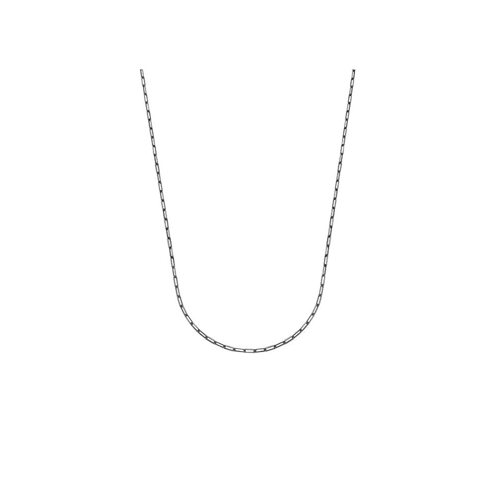 Thick Long Jv Man Ii Chain Necklace With Black Rhodium Plated Silver