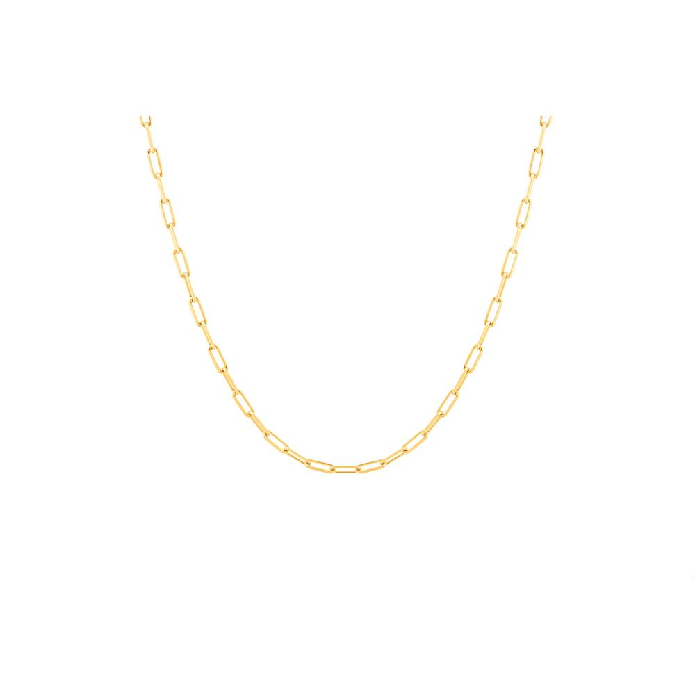 Thick Long Pop Chain Necklace With 18K Yellow Gold Plated Silver