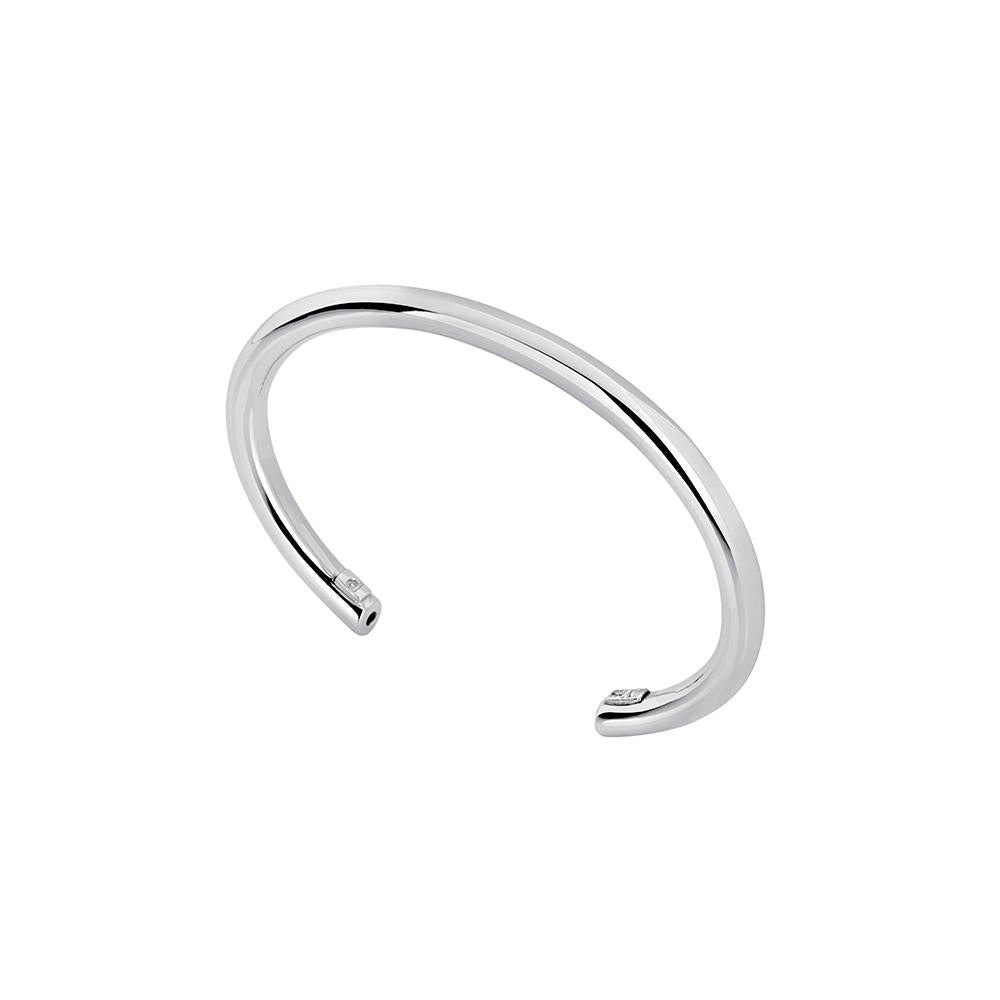 Tube Bracelet With White Rhodium Plated Silver