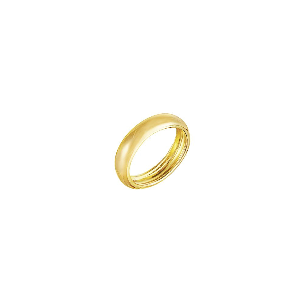 Tube Ring Silver with 18k Yellow Gold