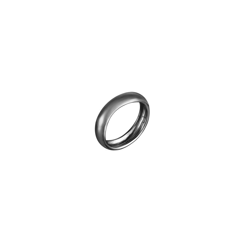 Tube Ring Silver with Black Rhodium