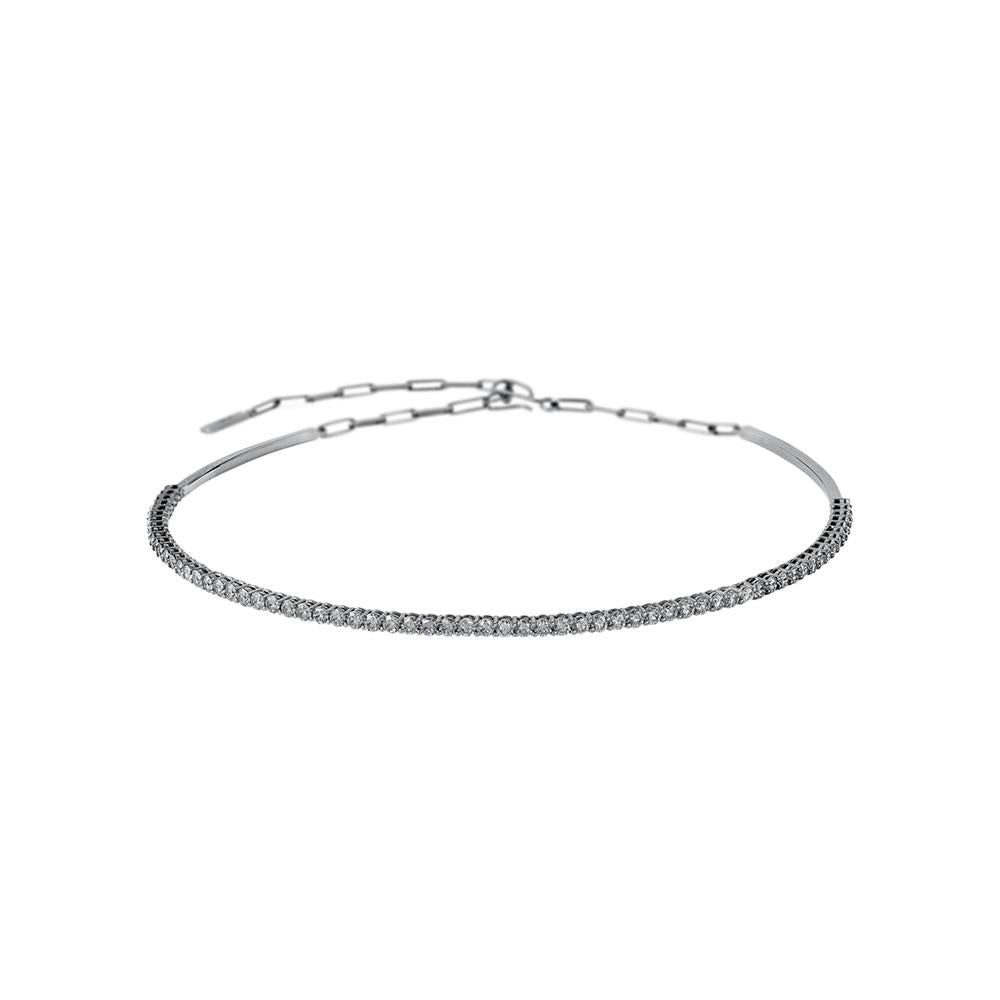 Voyeur Choker With 18K White Gold With Diamonds
