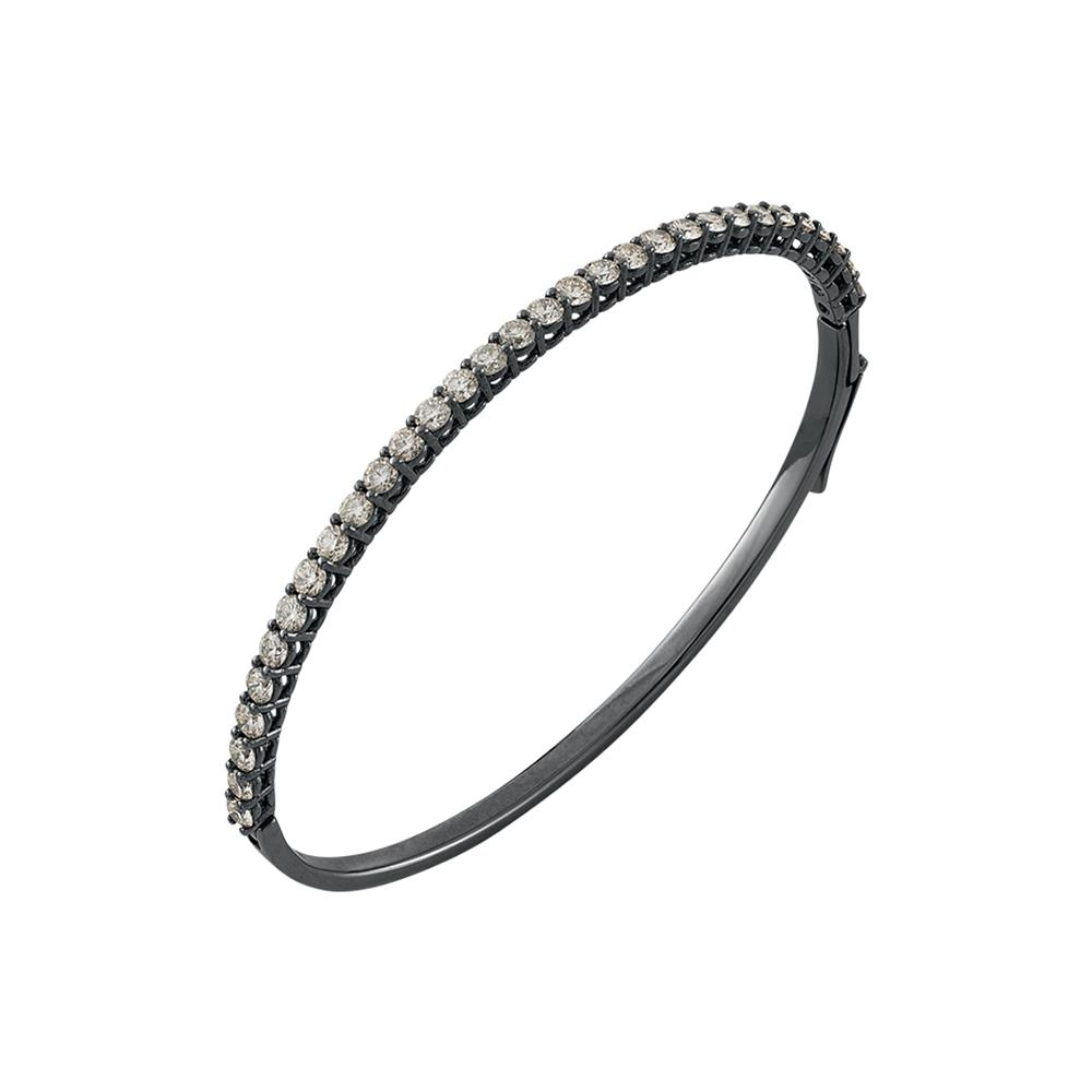 Voyeur Cuff With 18K White Gold With Black Rhodium And Llb Diamonds