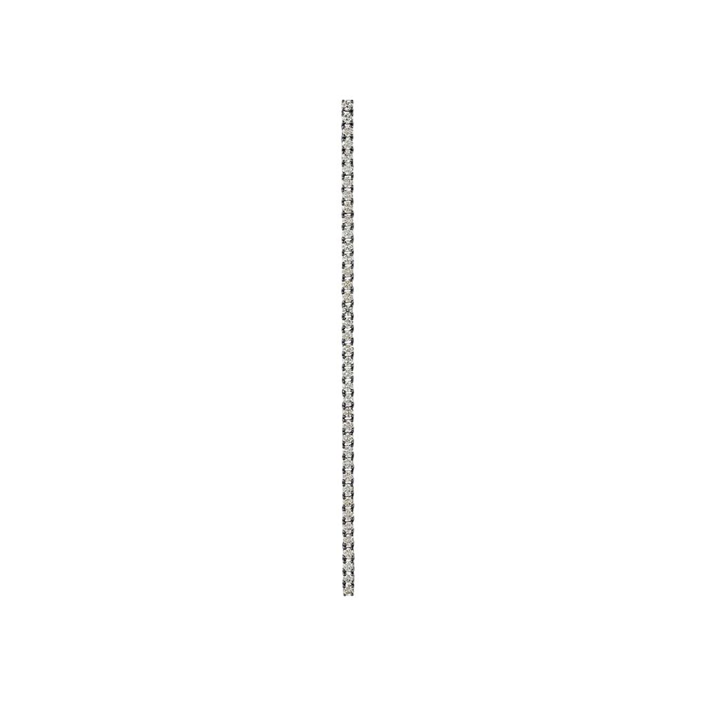 Voyeur Long Earring With 18K White Gold With Black Rhodium And Llb Diamonds 2,00Ct