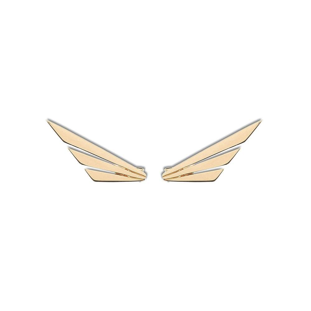 Wings Earring With Yellow Gold 18K