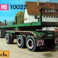KIBRI # 10022 - TRACTOR WITH FLATBED TRAILER