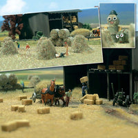 Busch 1212 - Hay and Straw Bales - HO scale