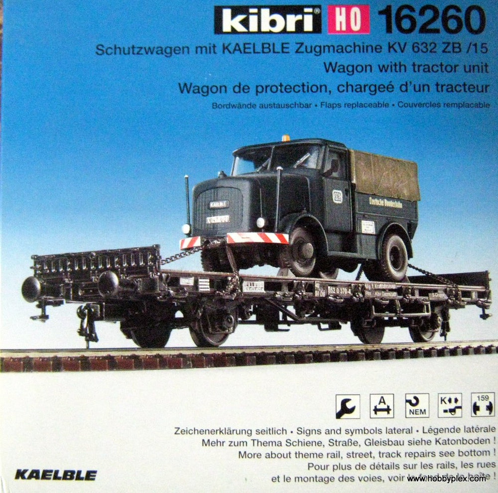 KIBRI # 16260 - FLAT WAGON WITH TRACTOR UNIT