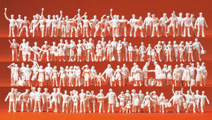 PREISER # 16325 - RAILWAY PERSONNEL AND PASSENGERS - UNPAINTED