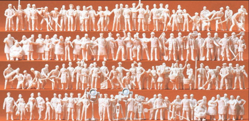 PREISER # 16326 - UNPAINTED FIGURES - DIFFERENT PROFESSIONS