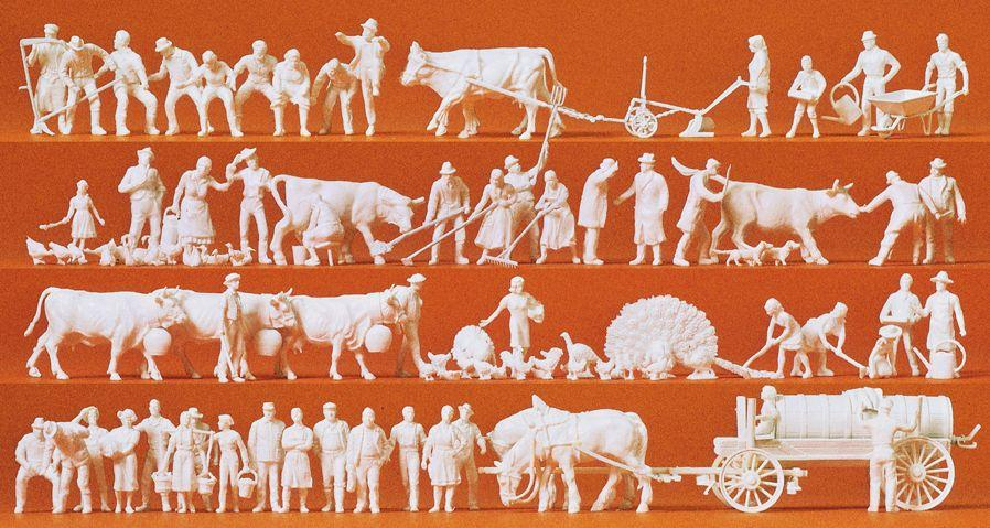 PREISER # 16354 - IN THE COUNTRY - UNPAINTED FIGURES