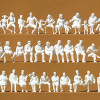 PREISER # 16358 - HO SCALE UNPAINTED, SEATED FIGURES