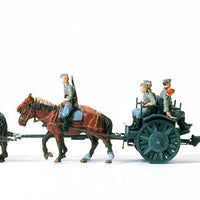 PREISER MILITARY # 16513 - HORSE DRAWN LIGHT FIELD HOWITZER