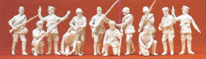 PREISER MILITARY # 16530 - UNPAINTED INFANTRY MEN, USSR