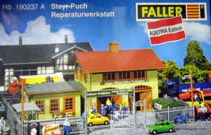 FALLER # 190237 A - STEYR-PUCH CAR REPAIR SHOP