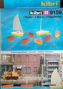 KIBRI # 9159 - Boat Set - HO scale kit