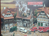VOLLMER # 3728 -Burning House - HO Scale Kit