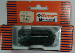 ROCO # 546 -  VW T2 BUS  - BERLIN POLICE BGS-INFO  - HO SCALE PLASTIC VEHICLE