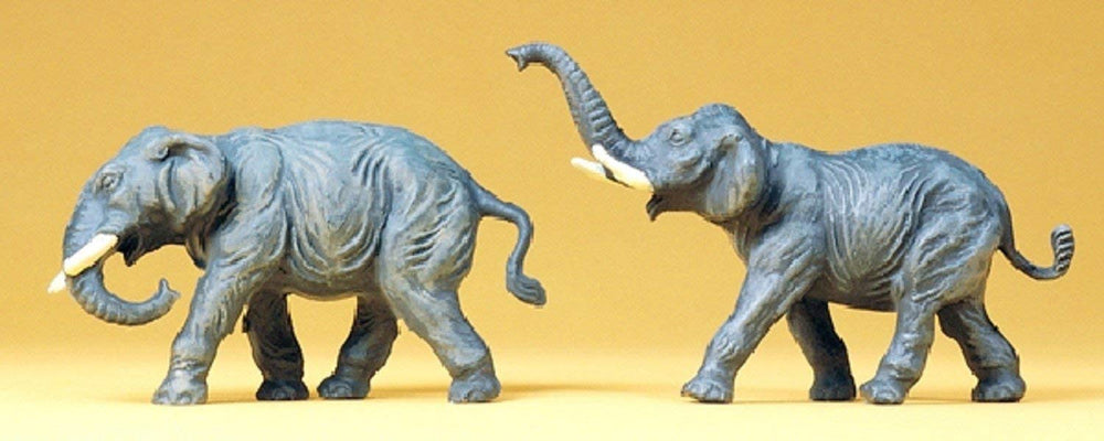 PREISER # 20375 - SET OF 2 ELEPHANTS - 1:87 SCALE