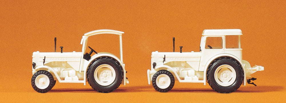 PREISER #24679 - HANOMAG R 55, WHITE/2 PC. HO SCALE, PLASTIC KIT