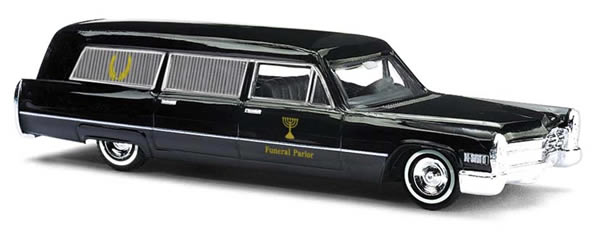BUSCH # 42919 - HEARSE 'FUNERAL PARLOR' - 1:87 SCALE MODEL VEHICLE